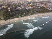 Indonesia, Bali, Aerial view of Padma beach - KNTF01381
