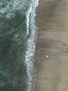 Indonesia, Bali, Aerial view of Padma beach, surfer - KNTF01387