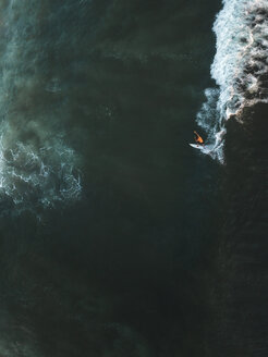 Indonesia, Bali, Aerial view of surfer - KNTF01393