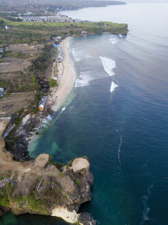 Indonesia, Bali, Aerial view of Balangan beach - KNTF01399
