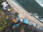 Indonesia, Bali, Aerial view of Balangan beach from above - KNTF01417