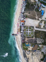 Indonesia, Bali, Aerial view of Pandawa beach - KNTF01425