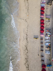 Indonesia, Bali, Aerial view of Pandawa beach - KNTF01431