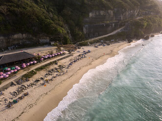 Indonesia, Bali, Aerial view of Pandawa beach - KNTF01434