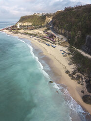Indonesia, Bali, Aerial view of Pandawa beach - KNTF01440