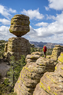 Girl hiking in Chiricahua National Monument, Willcox, Arizona, USA - AURF04792