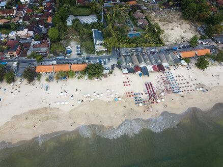 Indonesia, Bali, Aerial view of Jimbaran beach - KNTF01465