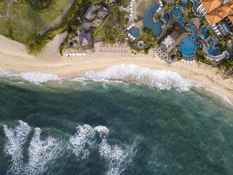 Indonesia, Bali, Nusa Dua, Aerial view of Nikko beach - KNTF01474