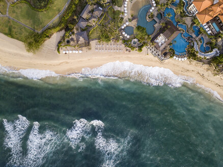 Indonesia, Bali, Nusa Dua, Aerial view of Nikko beach - KNTF01474