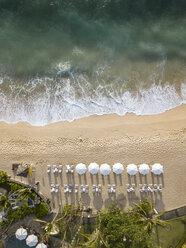 Indonesia, Bali, Nusa Dua, Aerial view of Nikko beach - KNTF01477