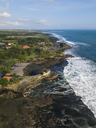 Indonesia, Bali, Aerial view of Tanah Lot temple - KNTF01495