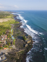 Indonesia, Bali, Aerial view of Tanah Lot temple - KNTF01498