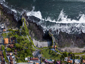 Indonesia, Bali, Aerial view of Tanah Lot temple - KNTF01501
