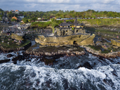 Indonesia, Bali, Aerial view of Tanah Lot temple - KNTF01513