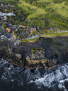 Indonesia, Bali, Aerial view of Tanah Lot temple - KNTF01516