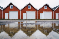 Norway, row of similar huts - KKAF01923