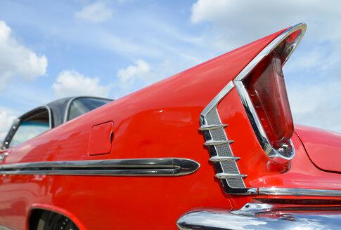 Detail of oldtimer, red DeSoto - RJF00807