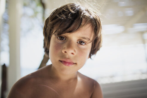 Portrait of little boy on the beach - AZOF00035