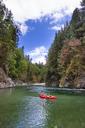 Adam Palmer Packrafting The Chehalis River In British Columbia, Canada - AURF04856