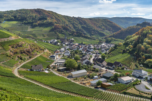 Germany, Rhineland-Palatinate, Ahr Valley, Red Wine Hiking Trail, Mayschoss - FRF00727
