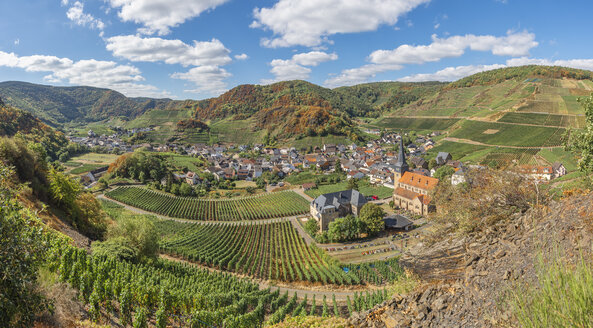 Germany, Rhineland-Palatinate, Ahr Valley, Red Wine Hiking Trail, Mayschoss - FRF00730
