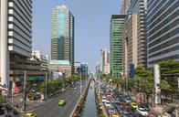 High Angle View Of North Sathorn Road In Bangkok - AURF05195