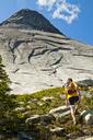 Hiker Approaches Vicuna Peak, British Columbia, Canada - AURF05201