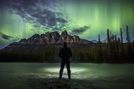 Man under aurora - AURF05318
