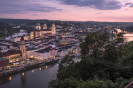 Germany, Bavaria, Passau, city view in the evening - HAMF00374