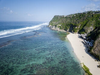 Indonesia, Bali, Aerial view of Karma Kandara beach - KNTF01673