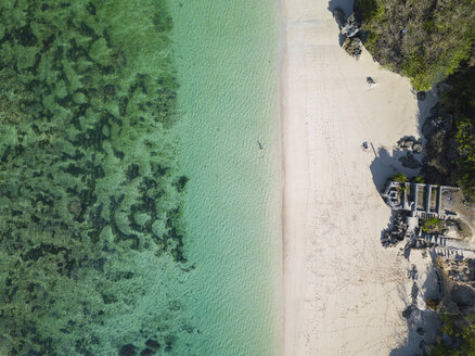 Indonesia, Bali, Aerial view of Karma Kandara beach - KNTF01679