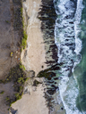 Indonesia, Bali, Aerial view of Dreamland beach from above - KNTF01746