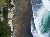 Indonesia, Bali, Aerial view of Uluwatu beach - KNTF01756