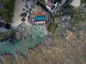 Indonesia, Bali, Aerial view of Uluwatu beach - KNTF01759