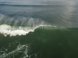 Indonesia, Bali, Aerial view of surfer - KNTF01765