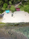 Indonesia, Bali, Padang, Aerial view of Thomas beach - KNTF01780