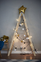 Christmas tree made from ladder - ABIF01074