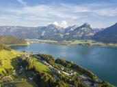 Austria, Salzkammergut, Sankt Wolfgang, Aerial view of Lake Wolfgangsee - JUNF01278