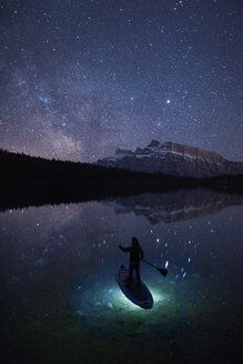 Stand up Paddle Board under Milky Way - AURF05633