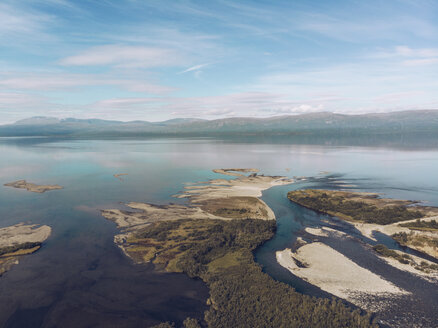 Sweden, Abisko, Aerial view of lake Tornetraesk - RSGF00011