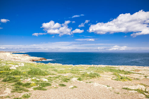Italy, Puglia, Polognano a Mare, view to horizon - FLMF00031