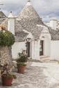 Italy, Apulia, Alberobello, view to Trulli - FLMF00049
