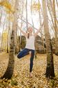 Yoga in the aspen leaves - AURF05757