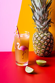 Glass of pineapple coconut icetea with lime - SBDF03744
