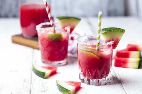 Glasses of Melon Margarita with watermelon juice - SBDF03753