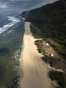 Indonesia, Bali, Aerial view of Nyang Nyang beach - KNTF01806