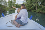 Mother and daughter on a boat trip - PSIF00097