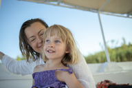 Mother and daughter on a boat trip - PSIF00100
