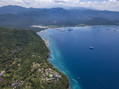 Indonesia, Bali, Aerial view of Blue Lagoon beach - KNTF01820