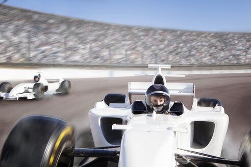 Racing Driver Winning on track - LUXF00294